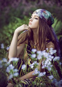 hippie mood with long dress
