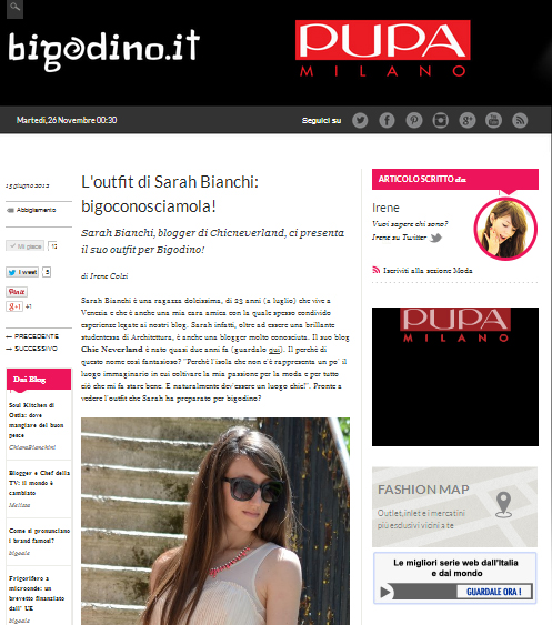intervista | bigodino | sarah bianchi | press area
