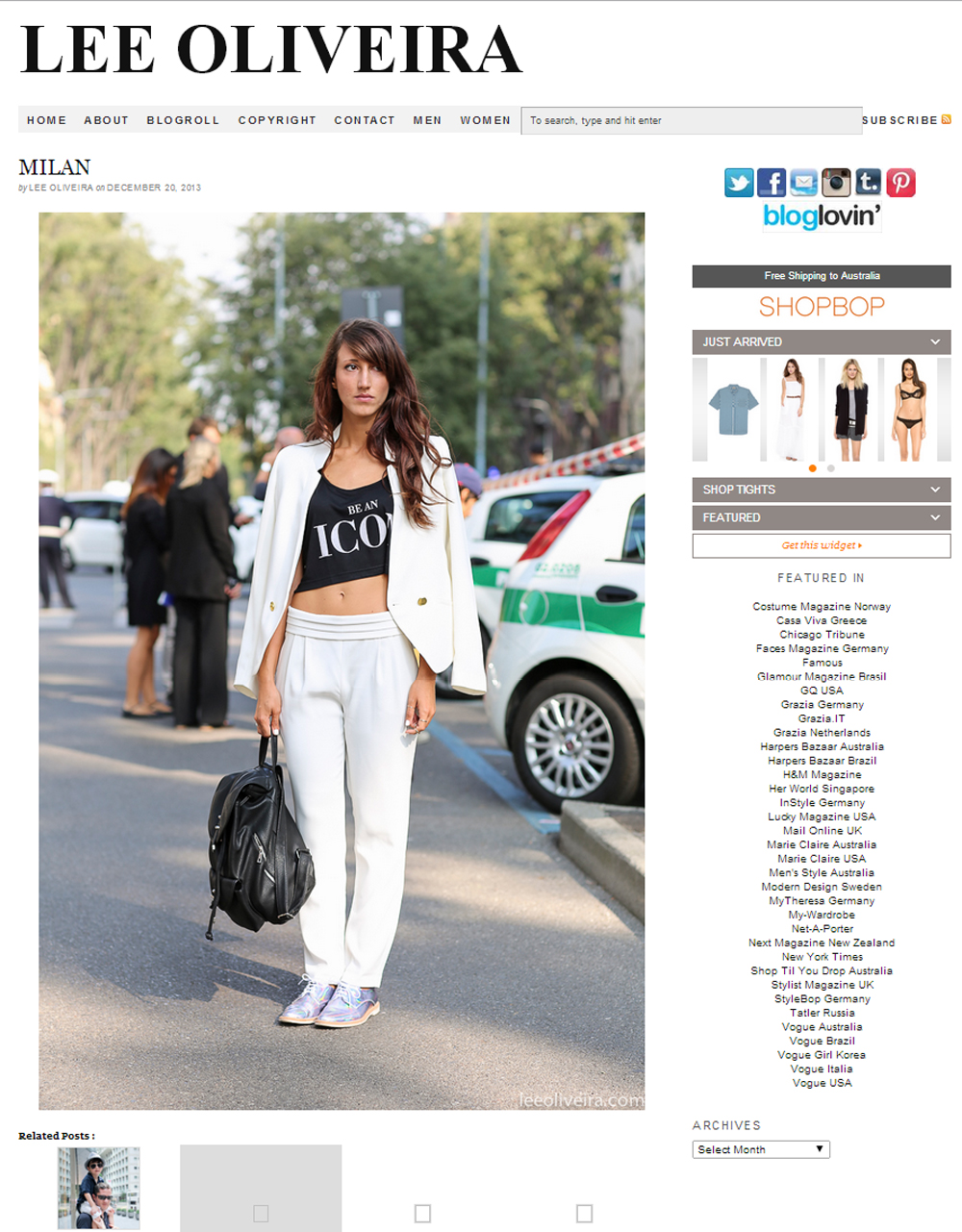 streetstyle | lee oliveira | sarah bianchi | press area
