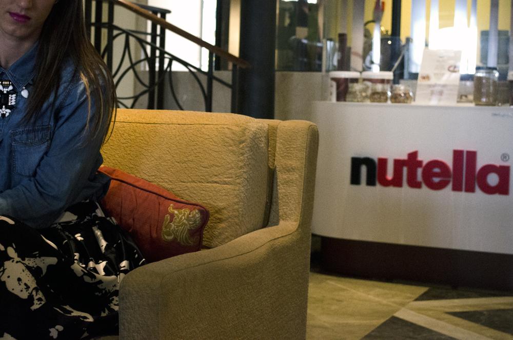Per una pausa golosa scelgo il Corner Nutella dell'Hotel Hilton