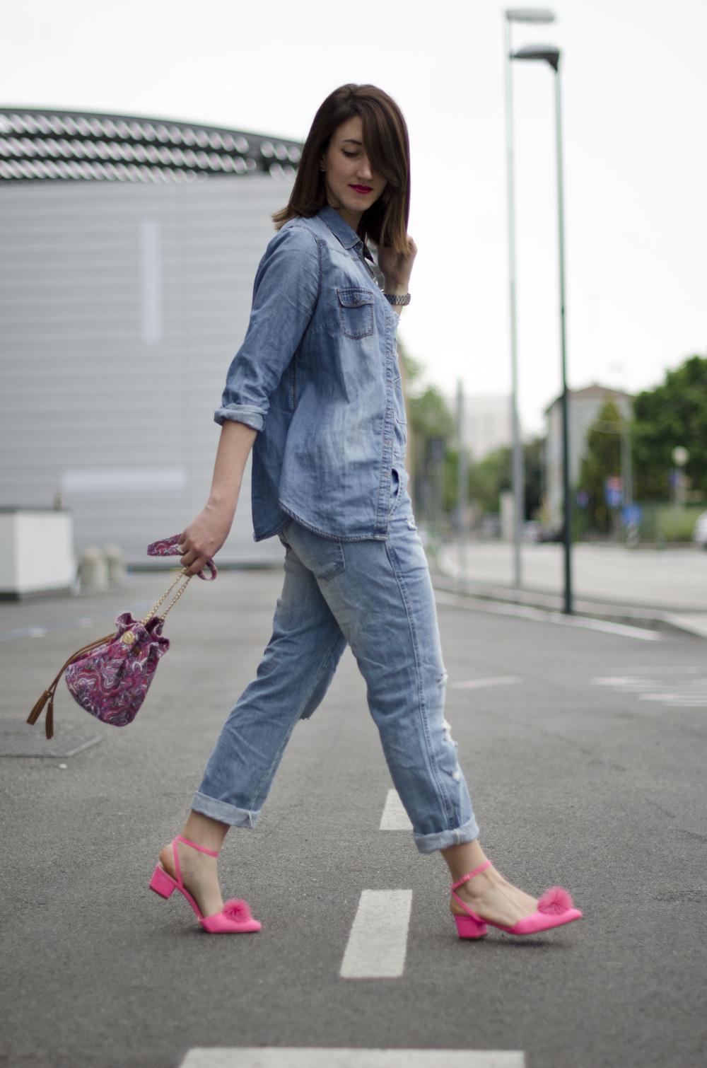 jeans look | salopette jeans | denim look