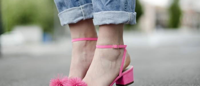 outfit jeans | salopette jeans | ballerine a punta