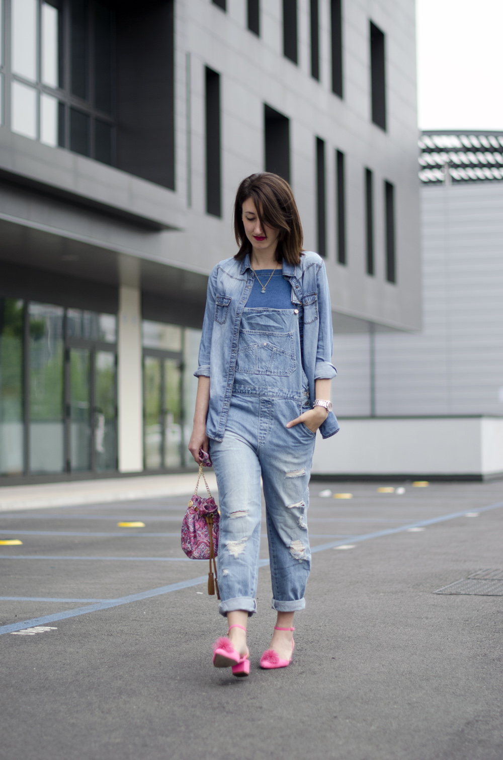 outfit total denim |salopette denim| jeans total look