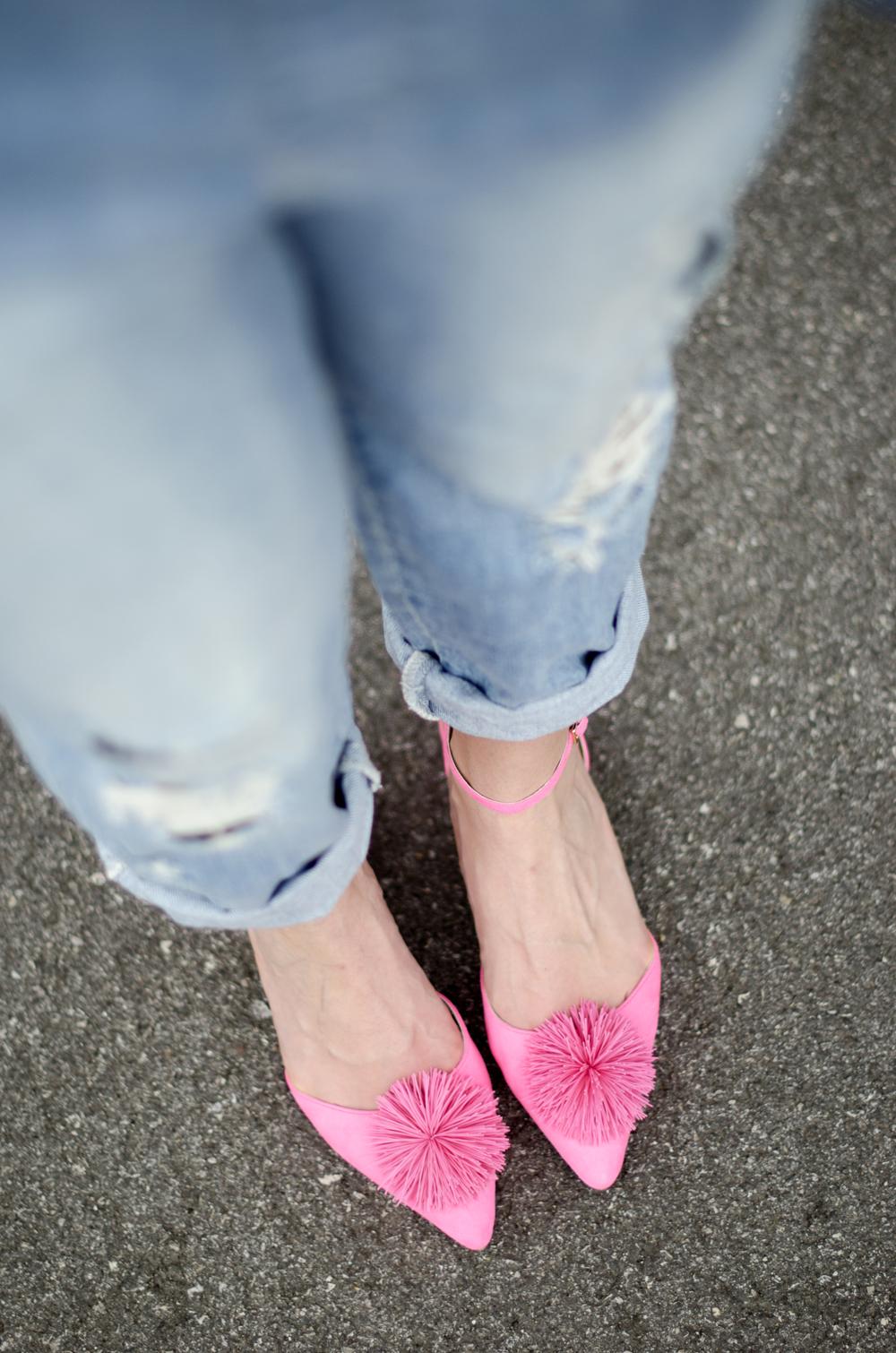 ballerine rosa asos | ballerine a punta | ballerine pon pon