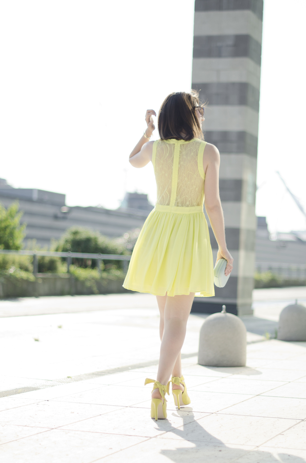 yellow lace dress | yellow outfit ideas | yellow dress outfit summer 2015