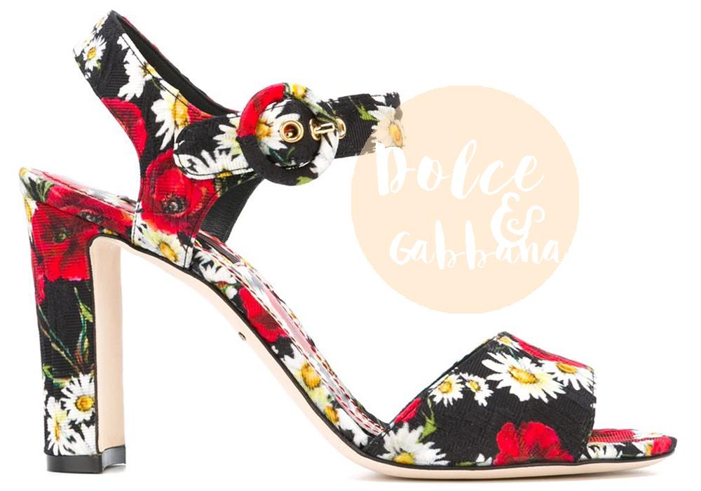 sandali a fiori dolce gabbana 2016