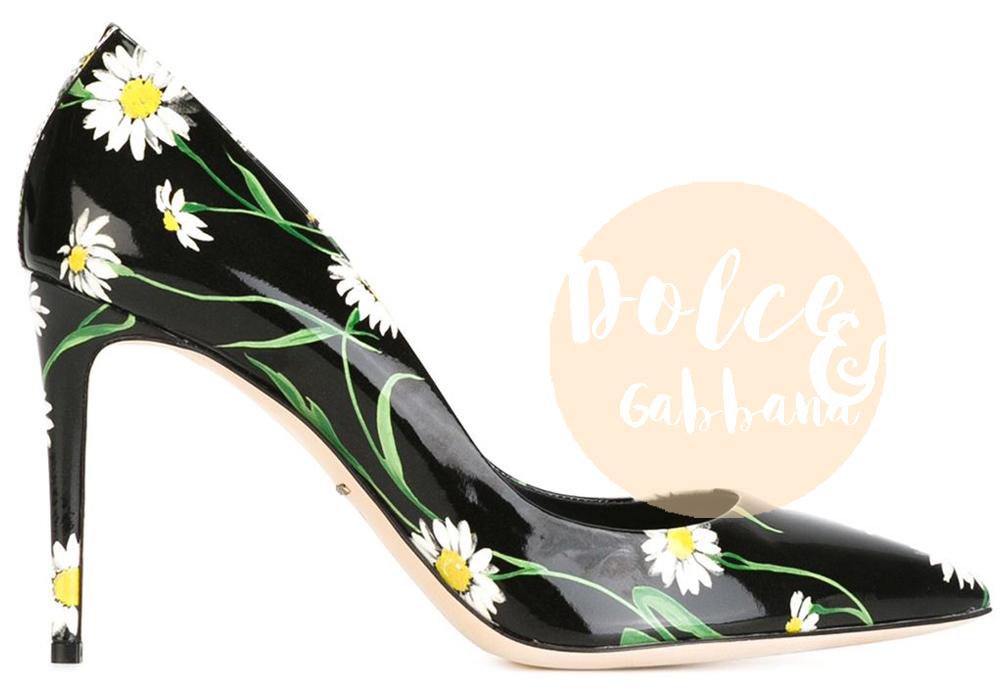 scarpe a fiori | dolce gabbana estate 2016
