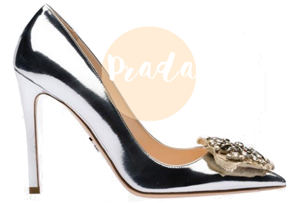 scarpe argento prada 2016