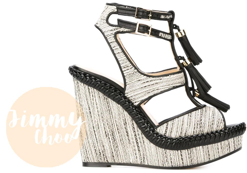 scarpe trend 2016 | sandali jimmy choo con zeppa