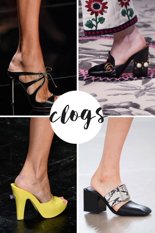 tendenze scarpe 2016 | clogs estate 2016 | scarpe che vanno di moda adesso