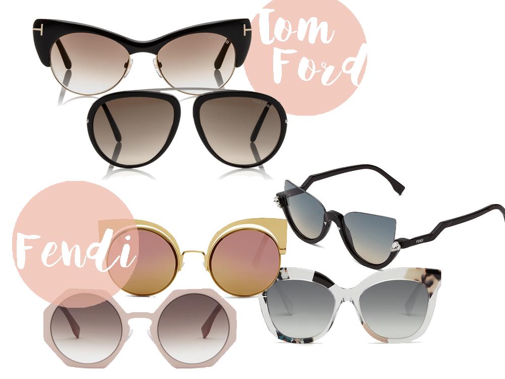 modelli occhiali da sole estate 2016 tom ford e fendi