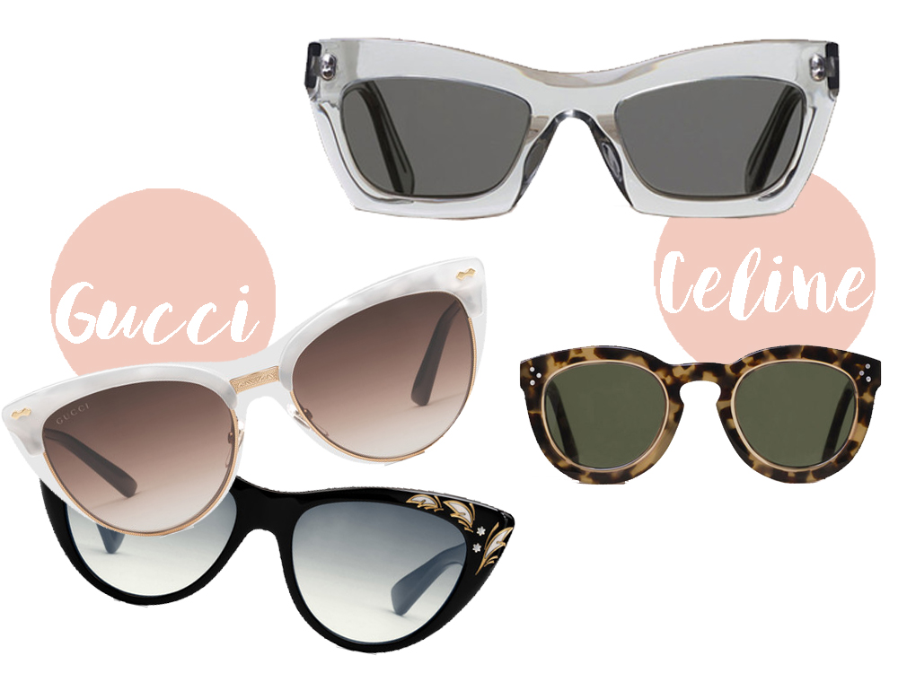 modelli occhiali da sole estate 2016 gucci e celine
