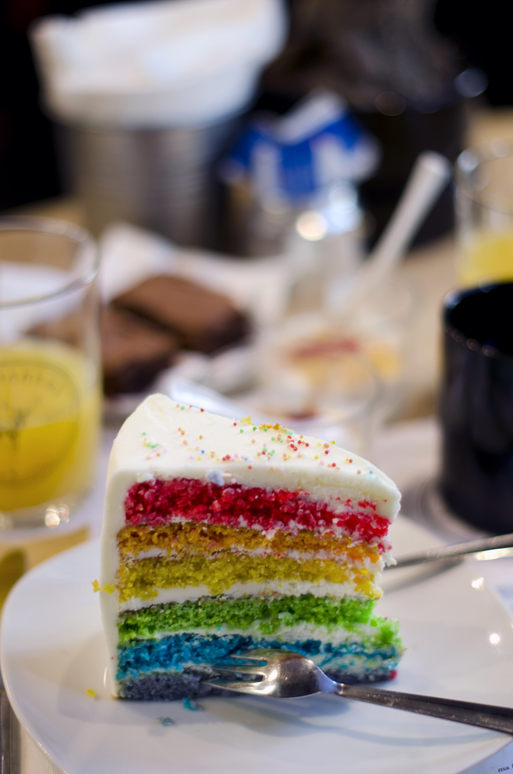 rainbow cake elk bakery | brunch verona