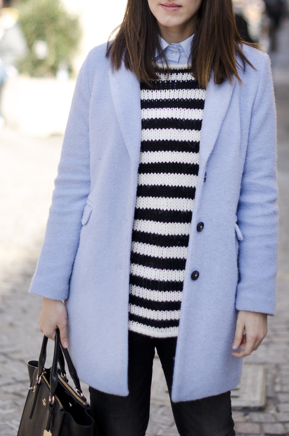 righe bianche e nere | maglione a righe