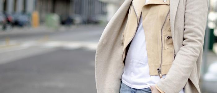 giacca beige per la primavera