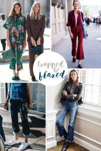 moda pantaloni 2016 cropped flared jeans
