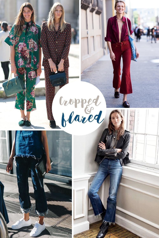 Pantaloni cropped & flare: 10 look da copiare e acquistare