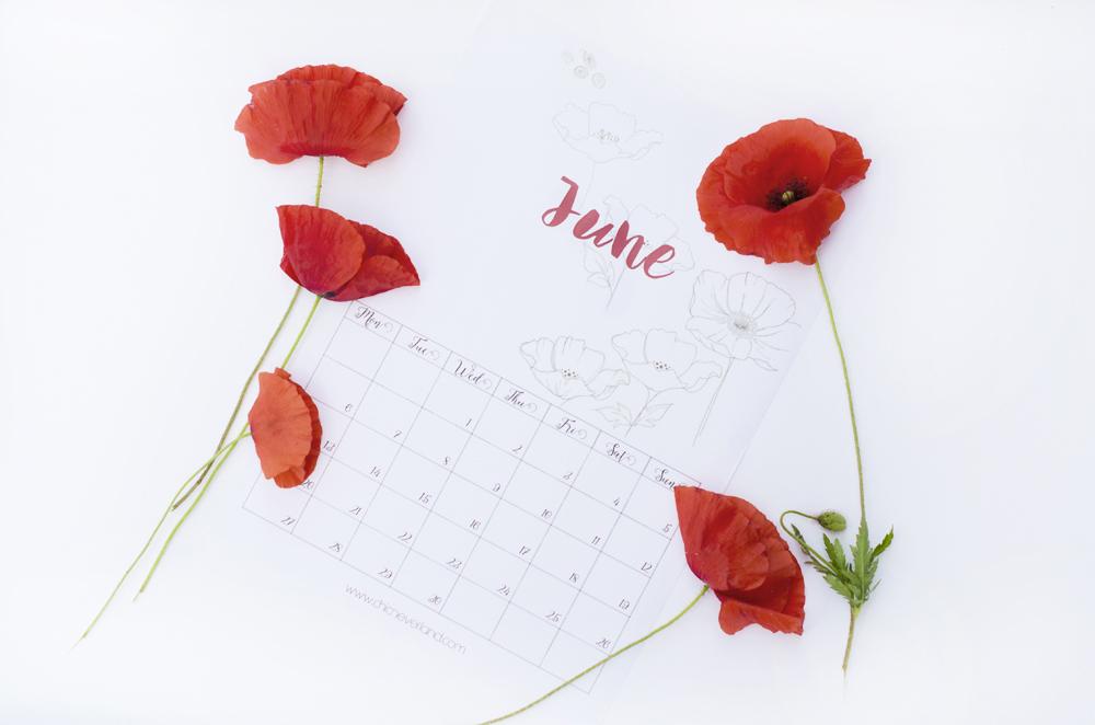 Scarica e stampa il calendario (gratuito) di Giugno