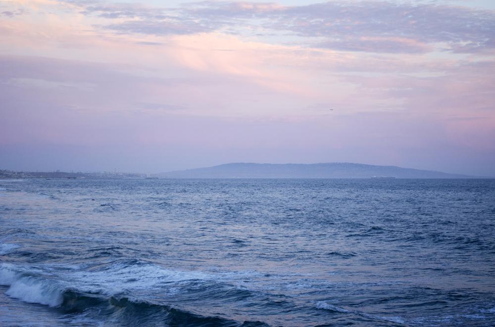 il mare della california al tramonto