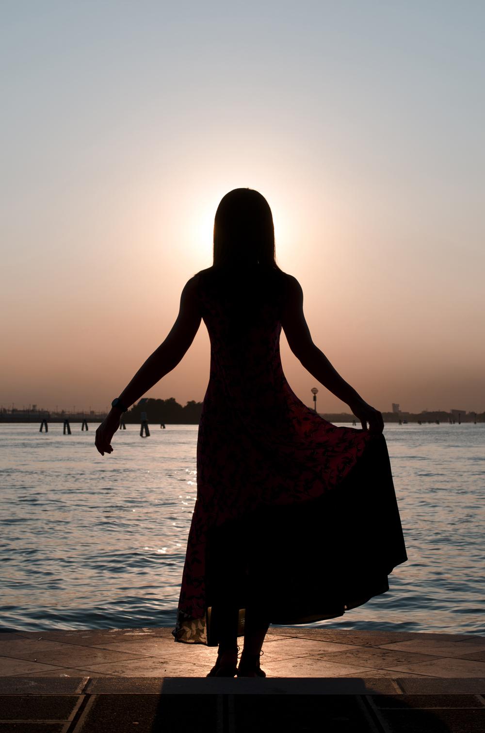 foto di venezia al tramonto