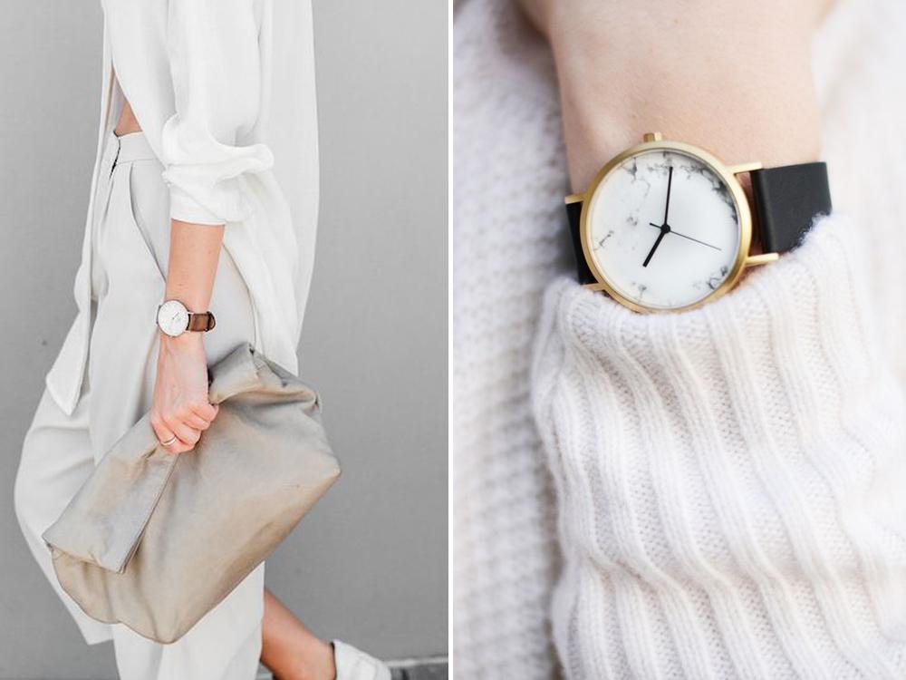 mini trend orologio minimal marmo