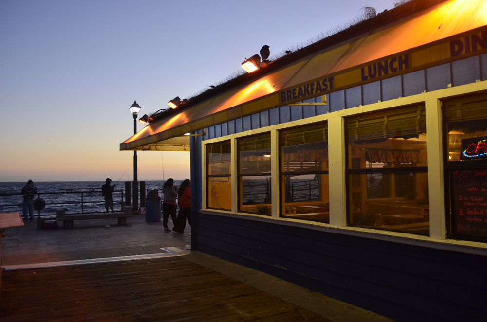 ristorante sul molo di Redondo Beach location del telefilm The O.C