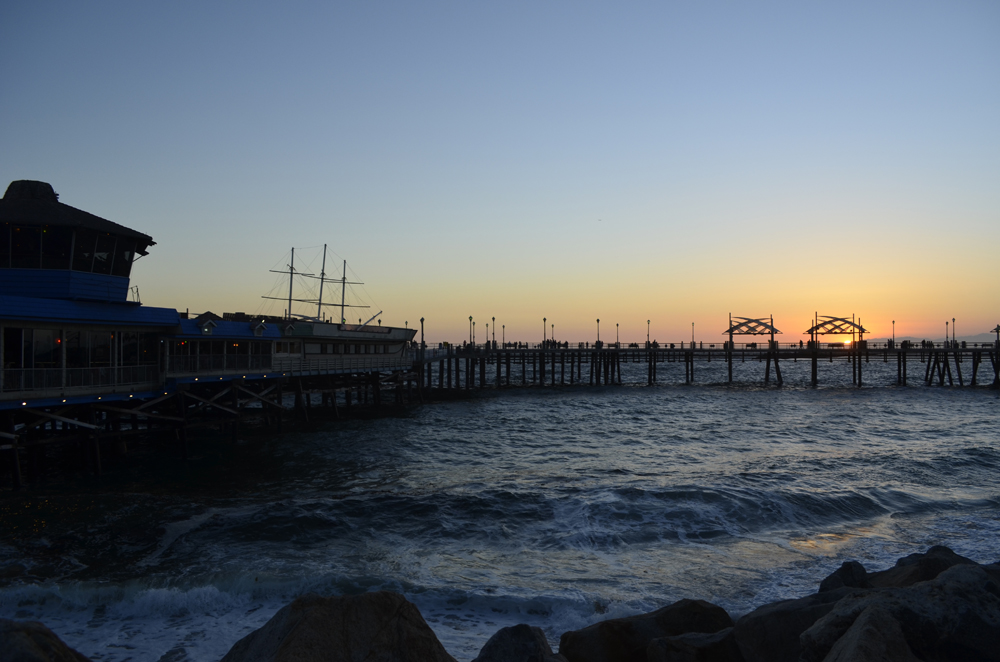 tramonto dal molo di Redondo Beach