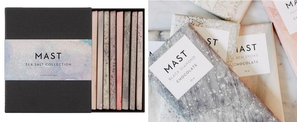 Cioccolata Mast Brothers, Sea Salt Collection in collaborazione con Calico Wallpapers