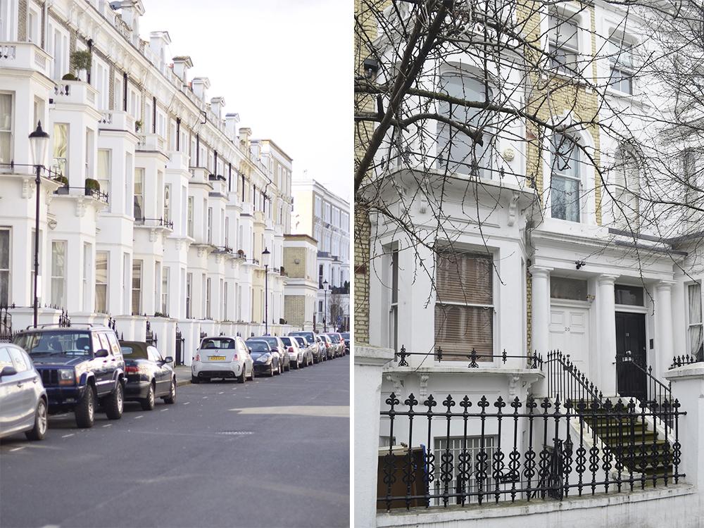 case londinesi nel quartiere chelsea e kensington