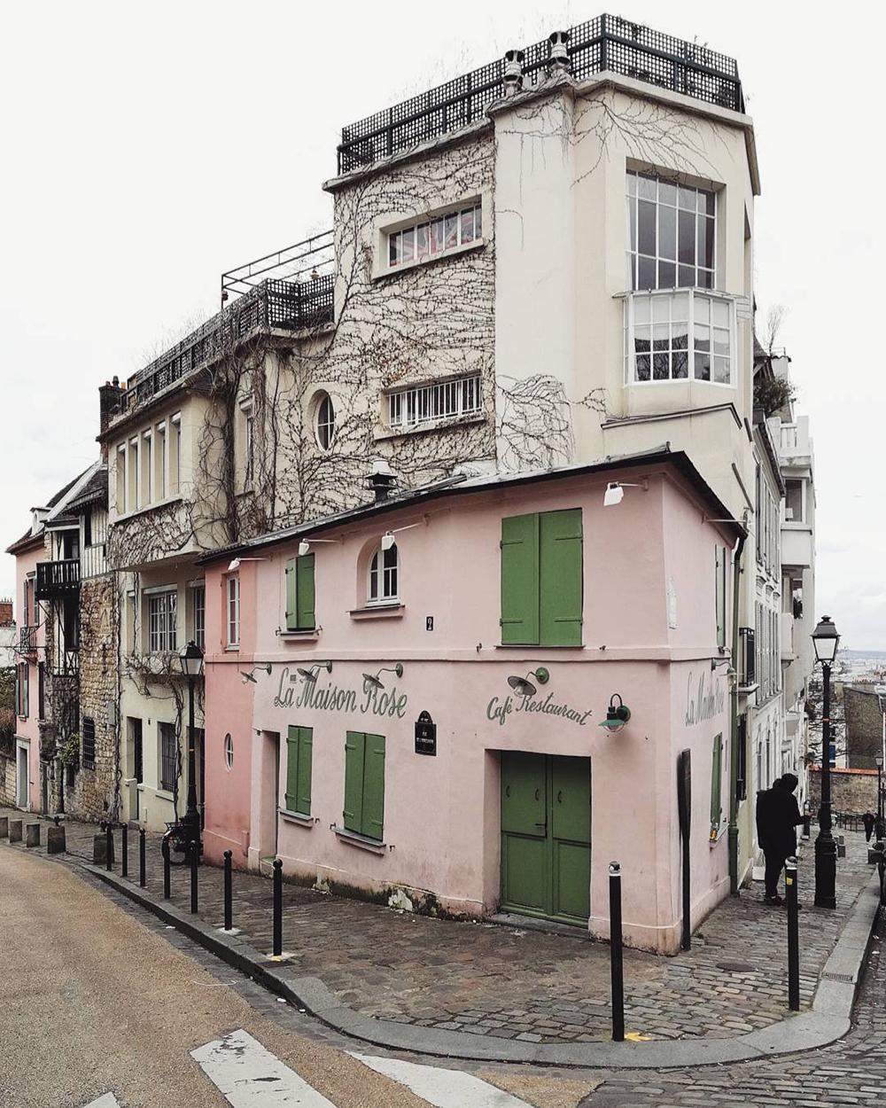 cosa fotografare a parigi: la maison rose