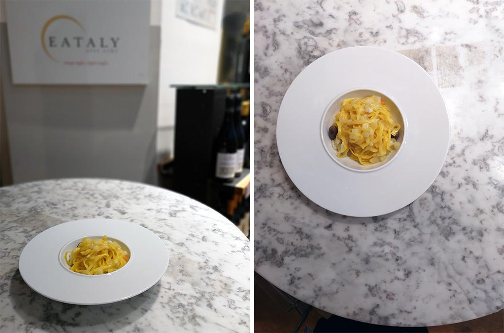 la pasta di camerino al ristorante di eataly milano ad aprile