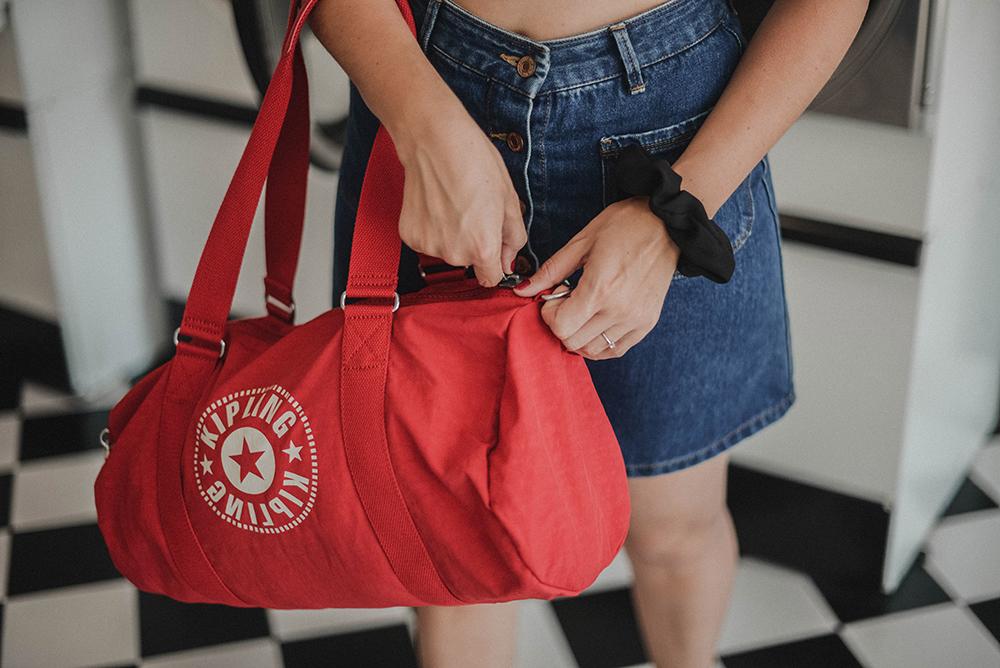 borsa rossa palestra Kipling Classics 4