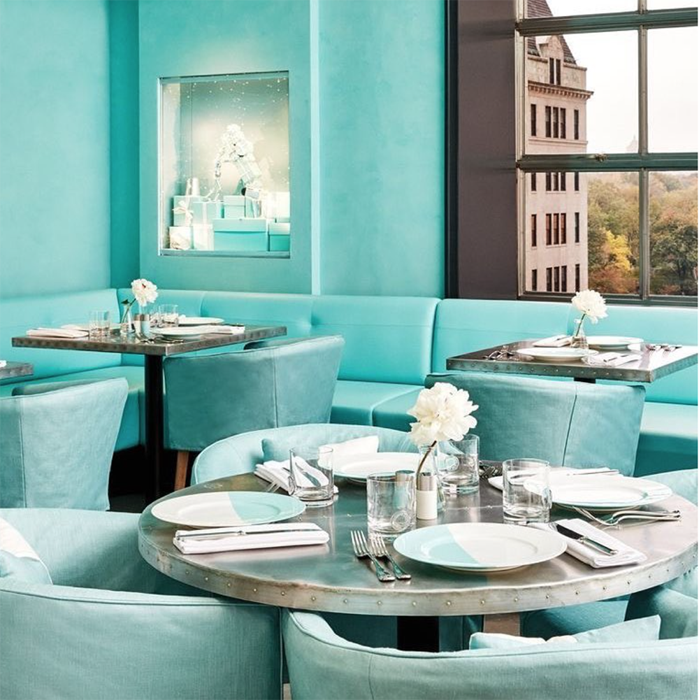 locali instagrammabili new york tiffany blue box cafe
