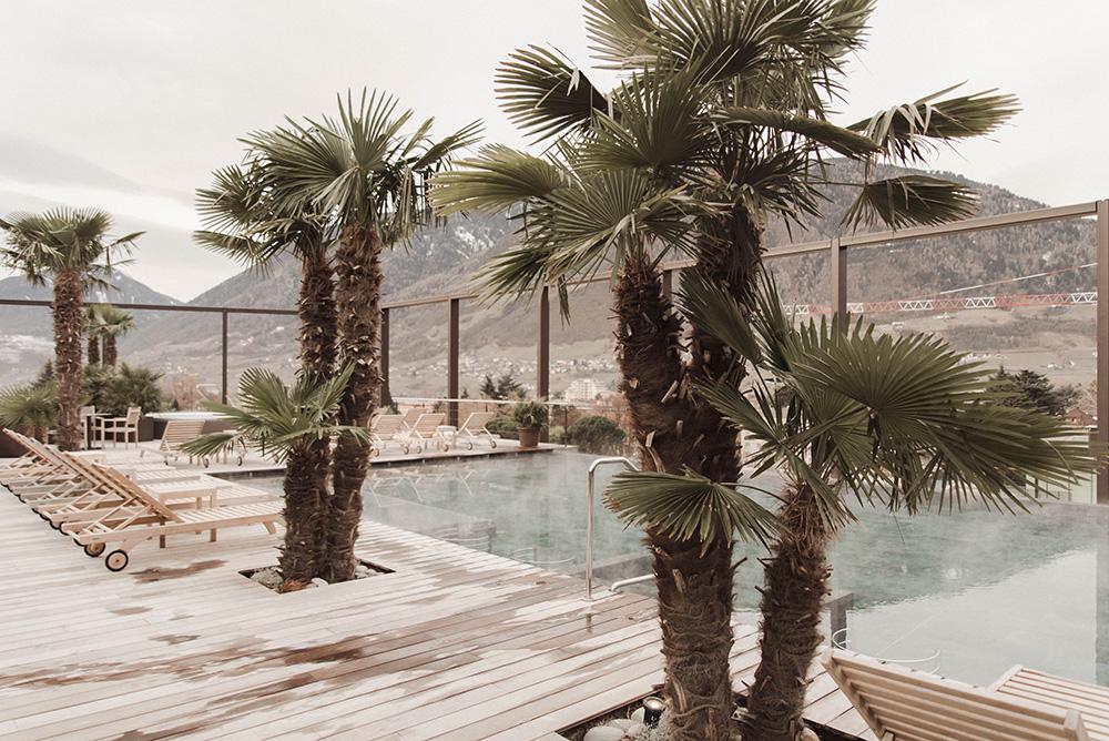 piscina sul tetto hotel terme merano