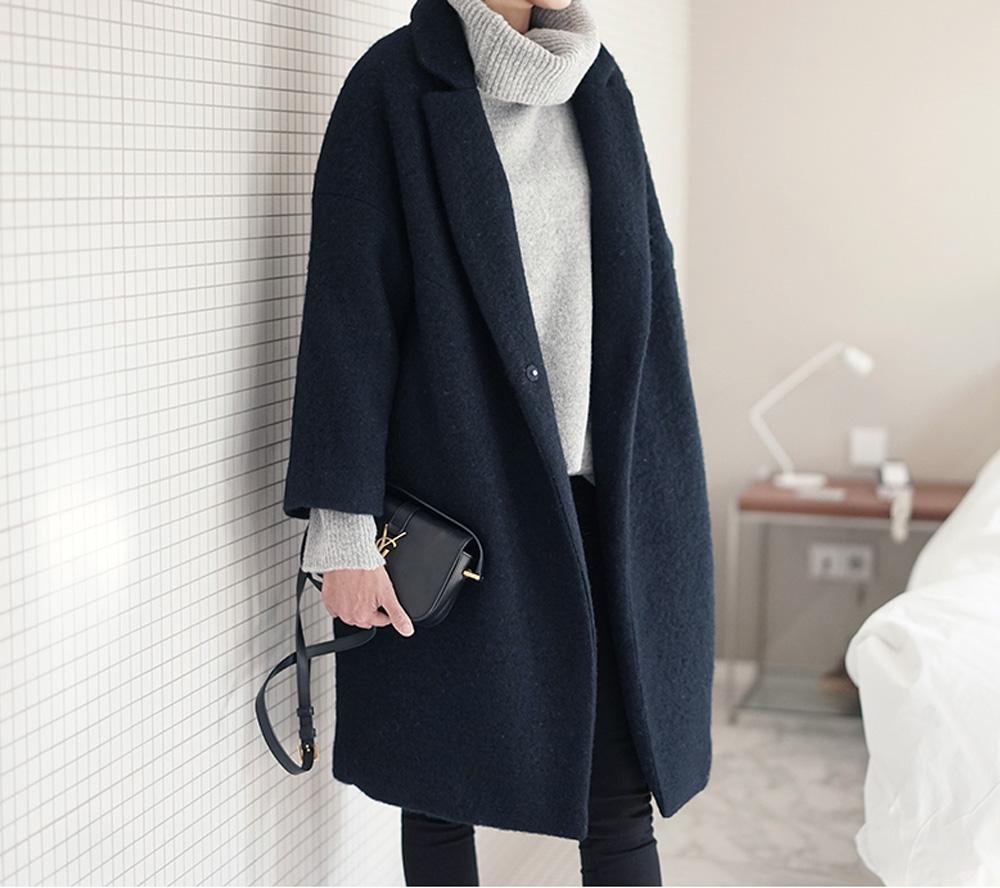 cappotto e maglione | look invernale