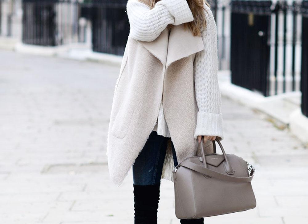 outfit per l'inverno | cappotto bianco invernale