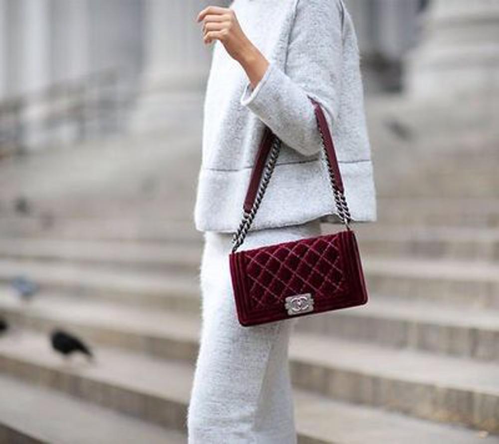 borsa chanel classica rossa