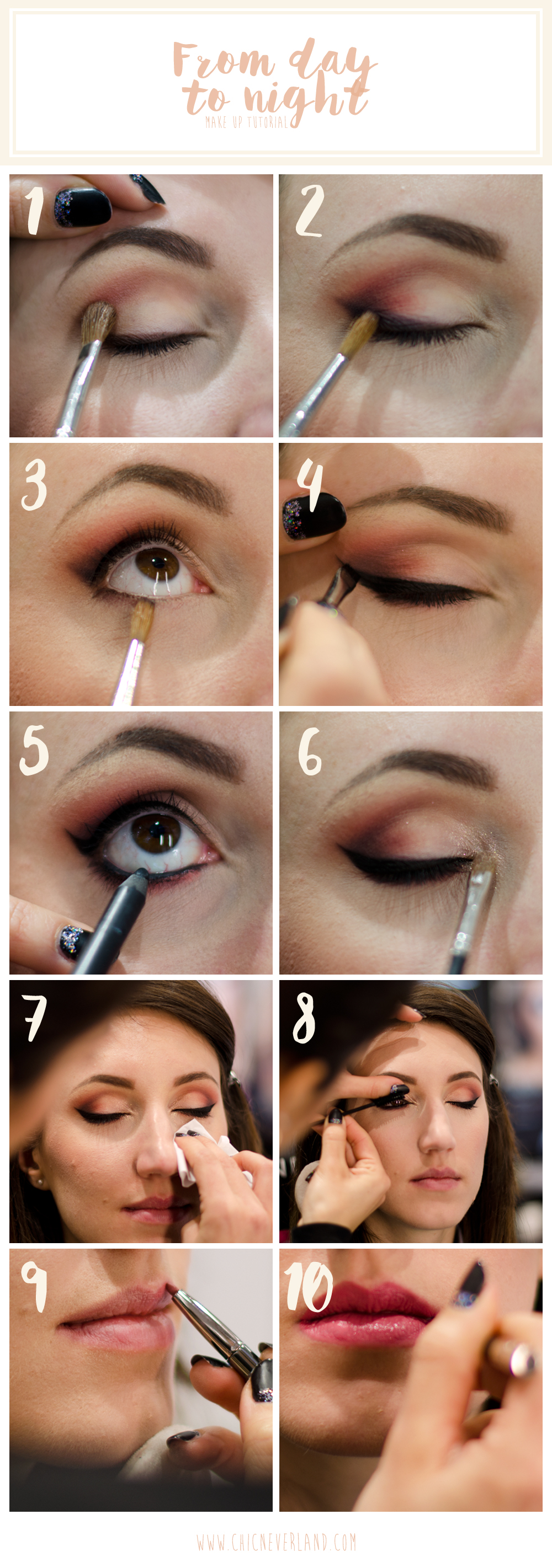 tutorial make up da sera a partire dal trucco giorno