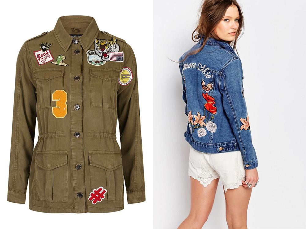 giacca con toppe anni 90