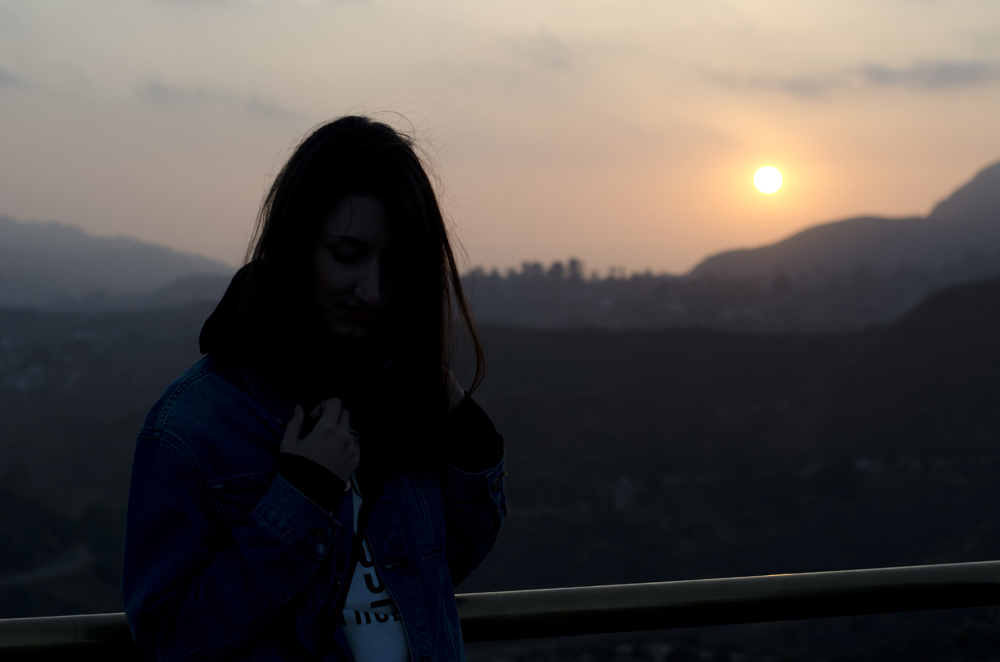 tramonto sulle colline di Hollywood dall'osservatorio griffith a los angeles raccontato come diario viaggio