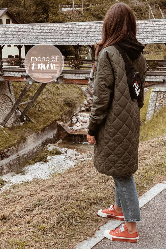giacca trapuntata look montagna